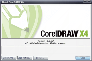 About CorelDRAW X4